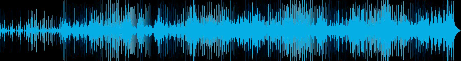 沖縄の三線合いの手を入れたドラムンベースの再生済みの波形