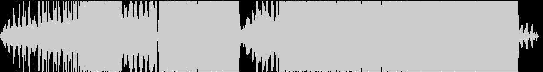 テンポがよく元気のいいEDM系の曲の未再生の波形
