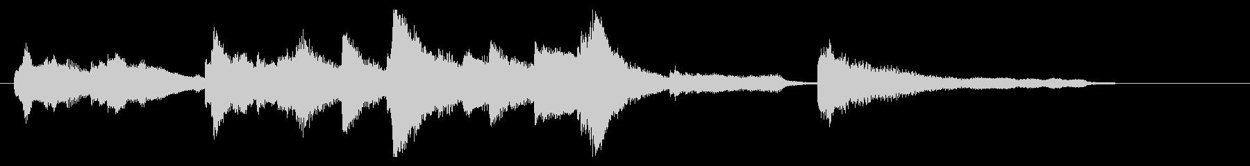 ジングル ピアノソロ バラードの未再生の波形