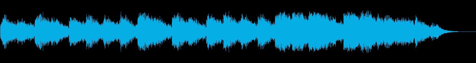 アコースティックギターの広がりのある楽曲の再生済みの波形