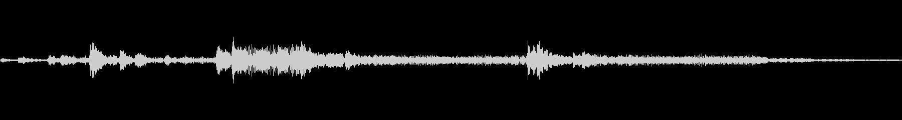 ベル電子れの未再生の波形