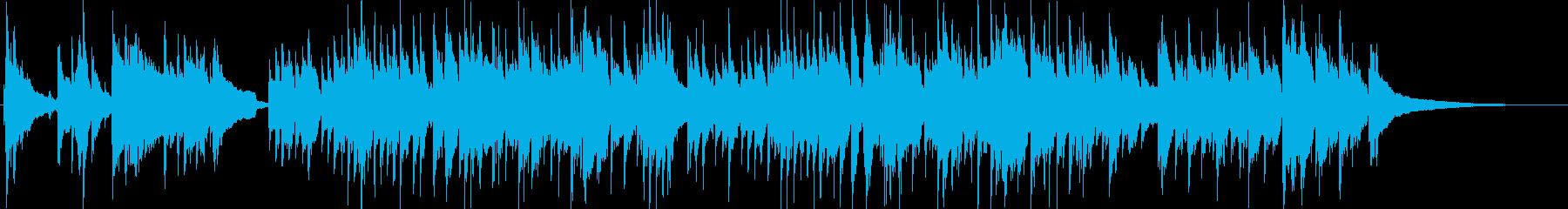 マイナー調クラシックギター1の再生済みの波形