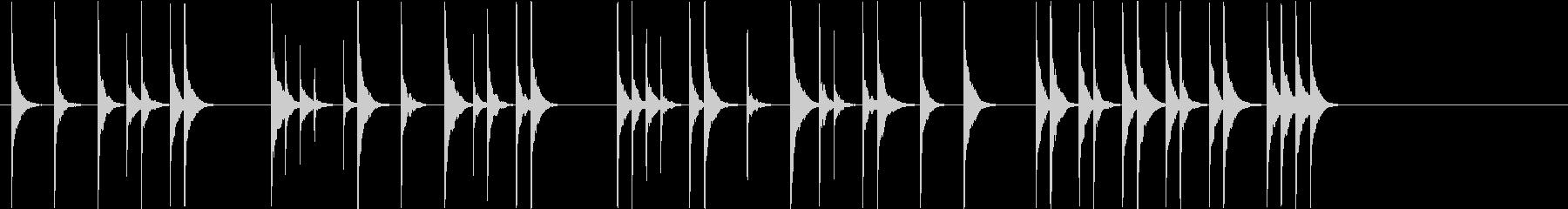 ほのぼの木琴ジングルの未再生の波形