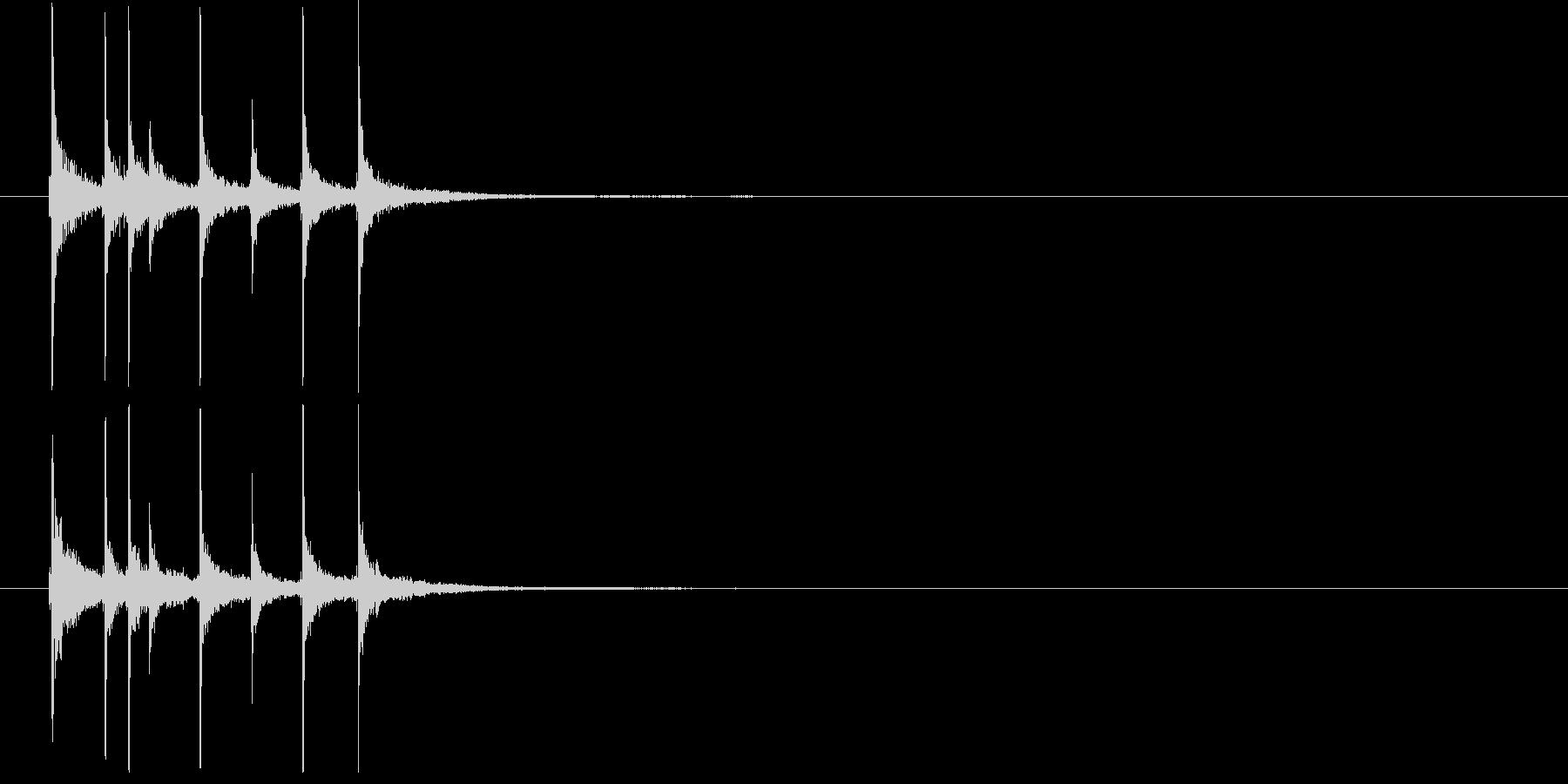 和の素材_三味線の短いフレーズ2の未再生の波形