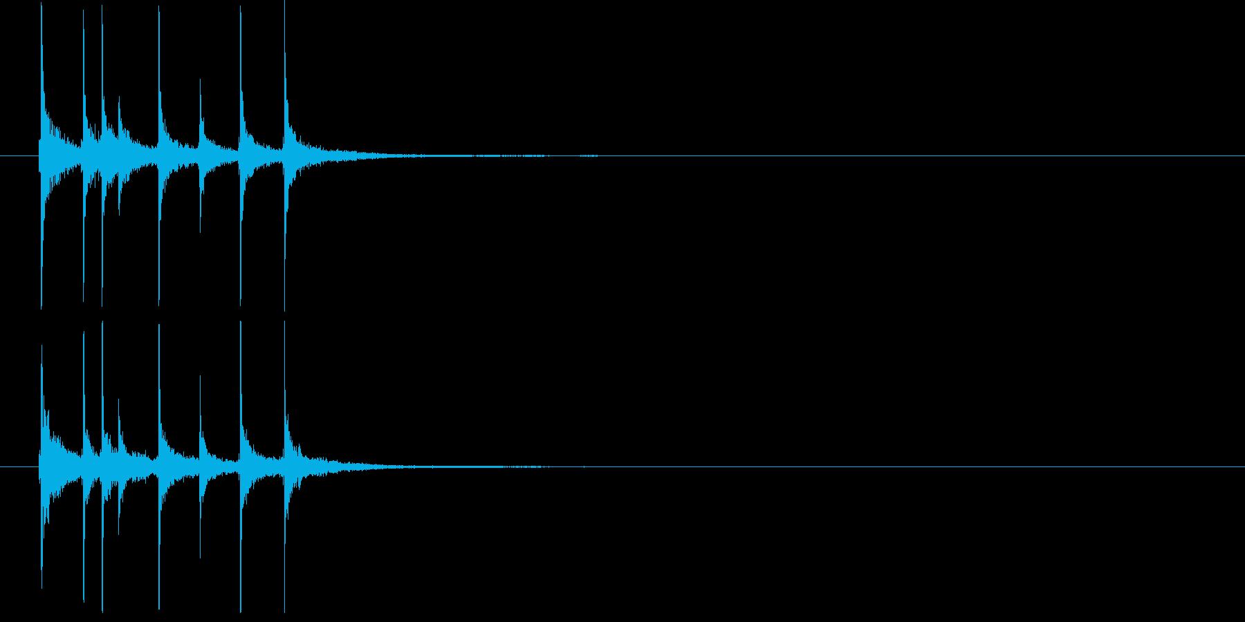 和の素材_三味線の短いフレーズ2の再生済みの波形