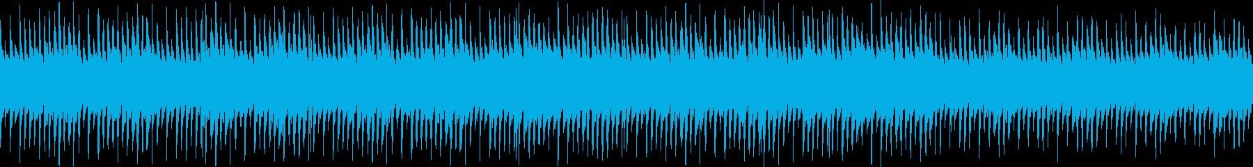 ピアノとマリンバのポップなループ曲の再生済みの波形