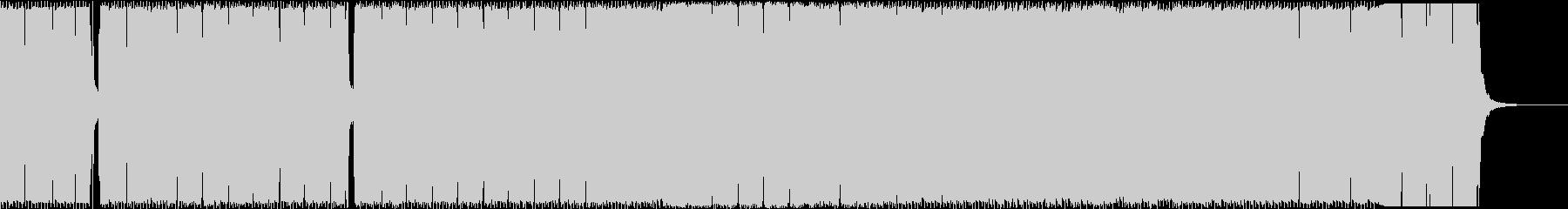 不気味でかっこいいエレクトロBGMの未再生の波形
