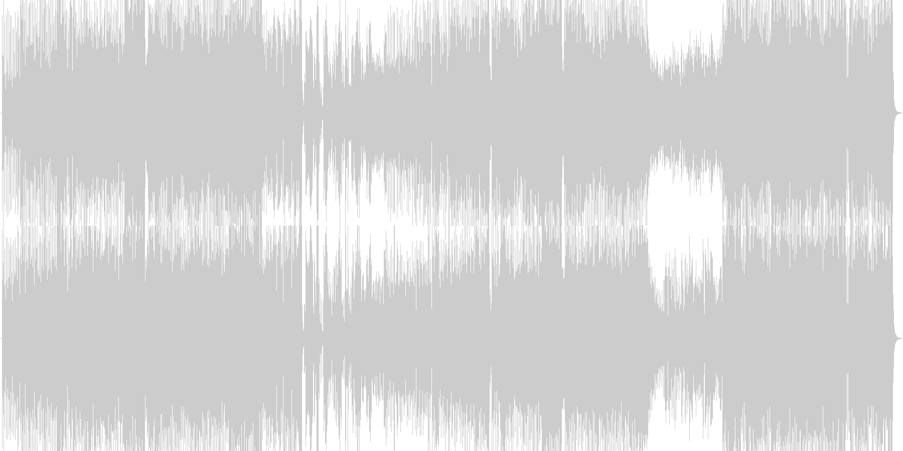 ノリノリで夢があるハウスビートのポップスの未再生の波形