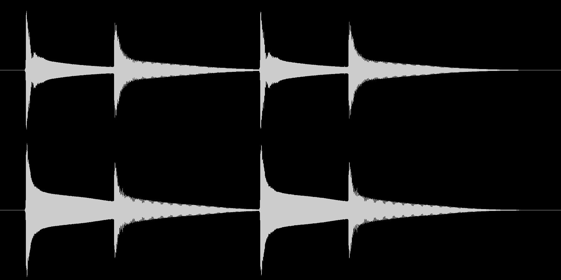 【生録音】ピンポンピンポン(速度-遅め)の未再生の波形