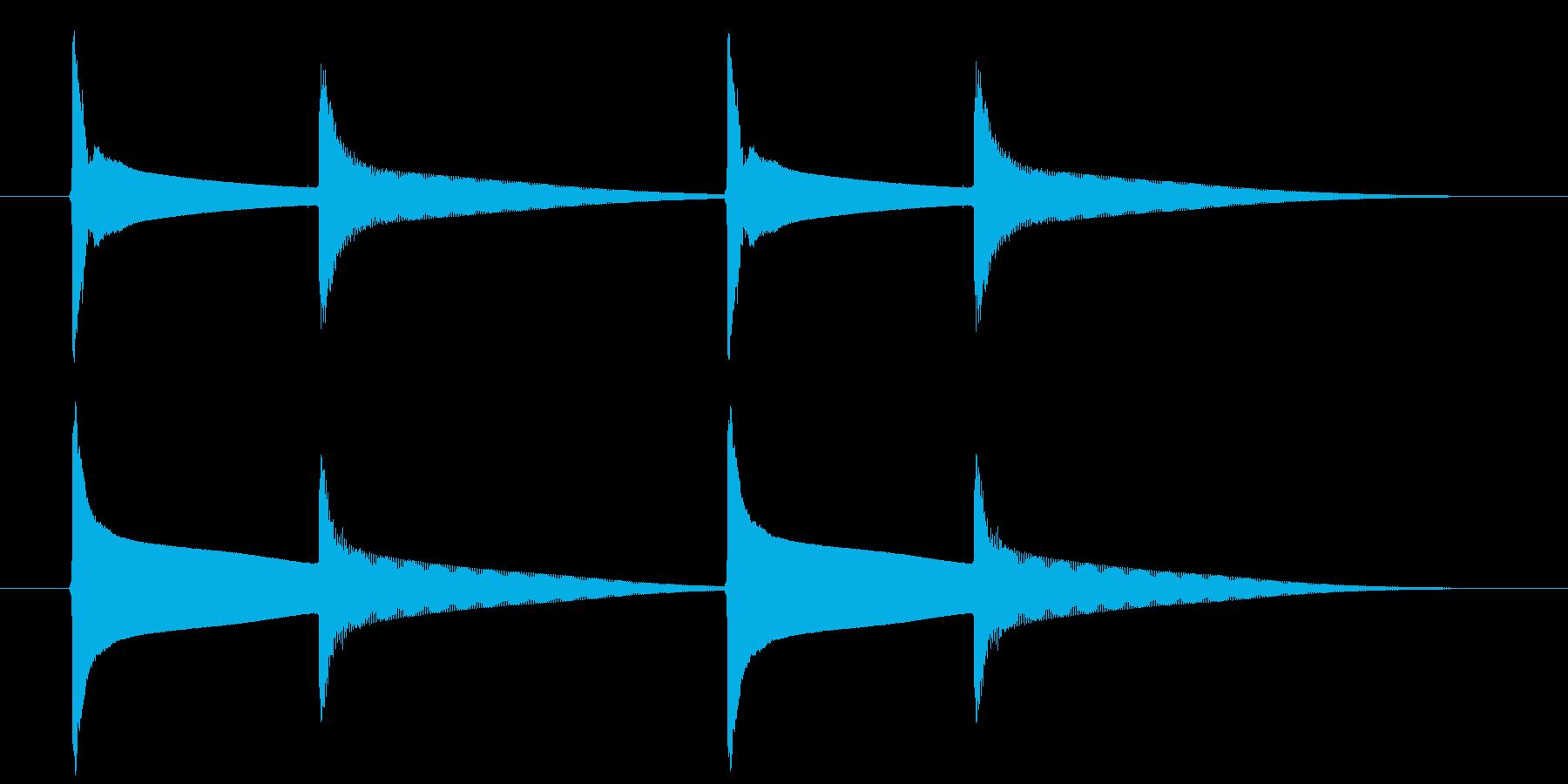 【生録音】ピンポンピンポン(速度-遅め)の再生済みの波形