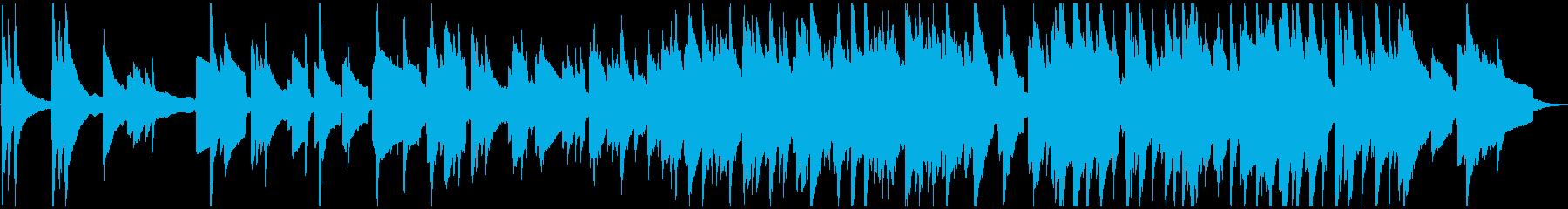 ピアノとサックスのゆったりとした妖艶な曲の再生済みの波形