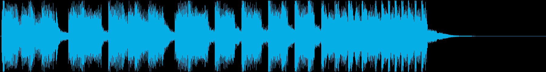 10秒・EDM・オープニング・ジングルの再生済みの波形