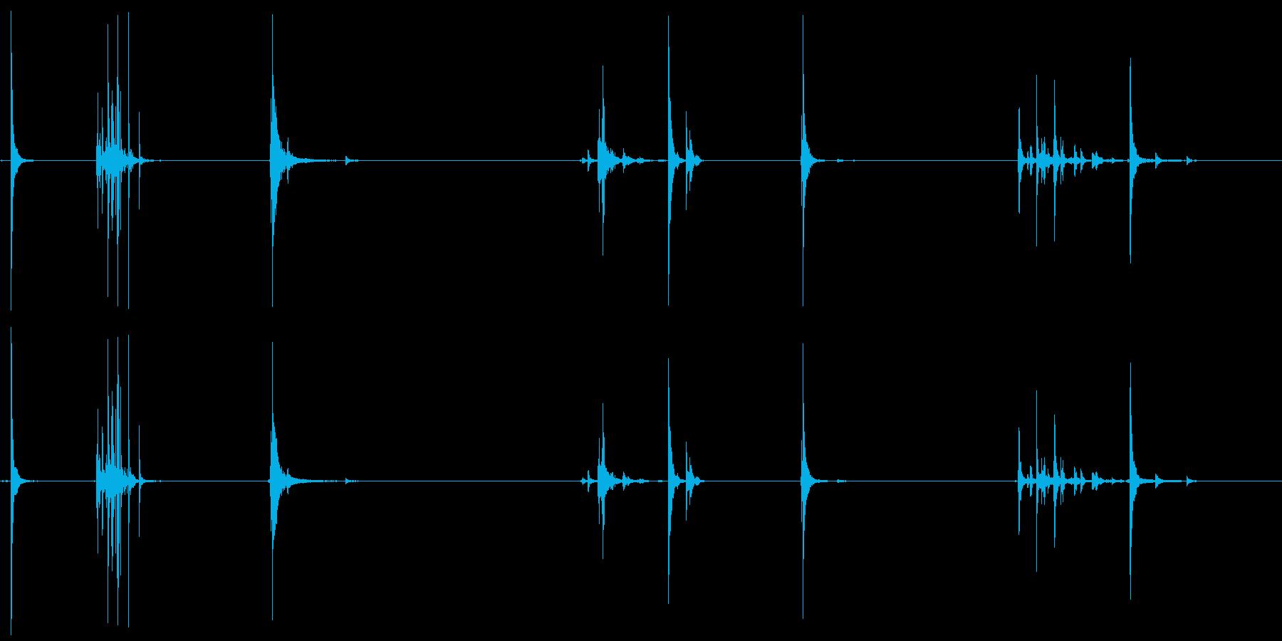 アルミニウム、クラッシュ、ヒット、...の再生済みの波形