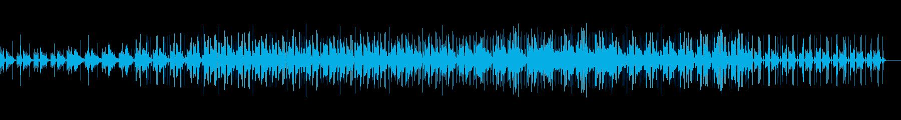 ラジカセで聞く様な音質のBGMの再生済みの波形