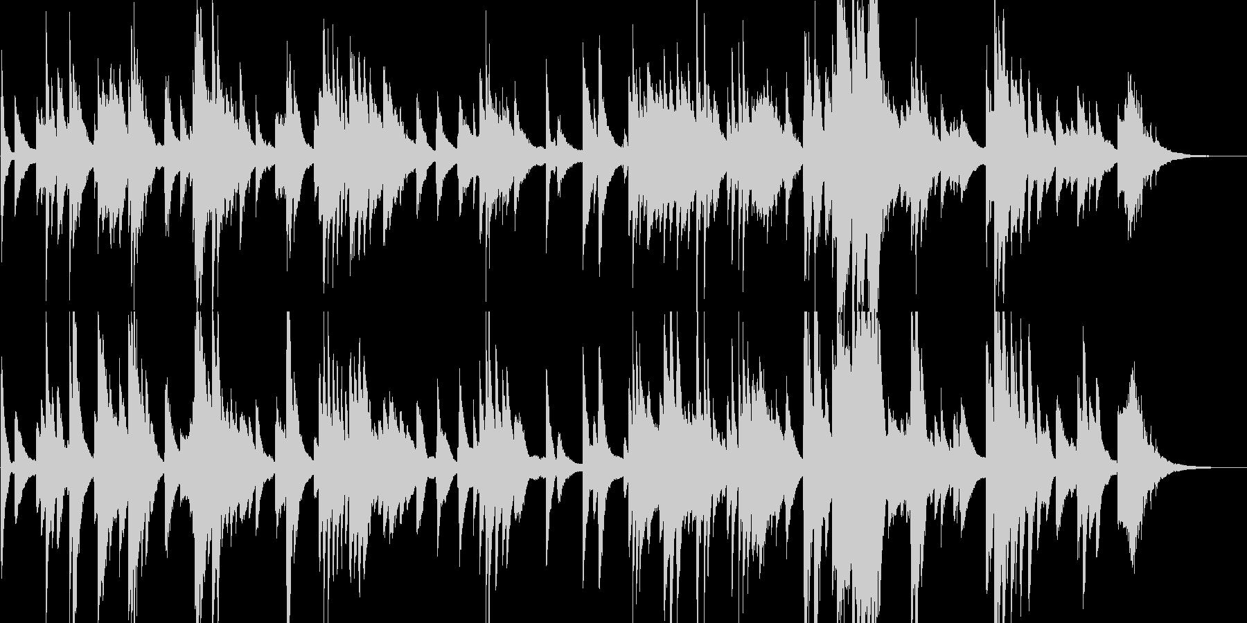 ダークでジャスフレーバーなピアノソロの未再生の波形