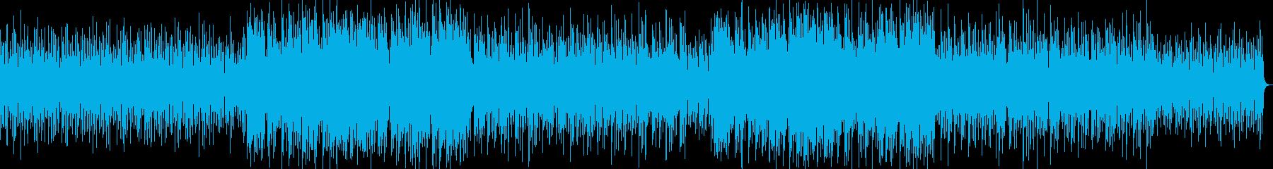 バリのガムラン風BGMの再生済みの波形