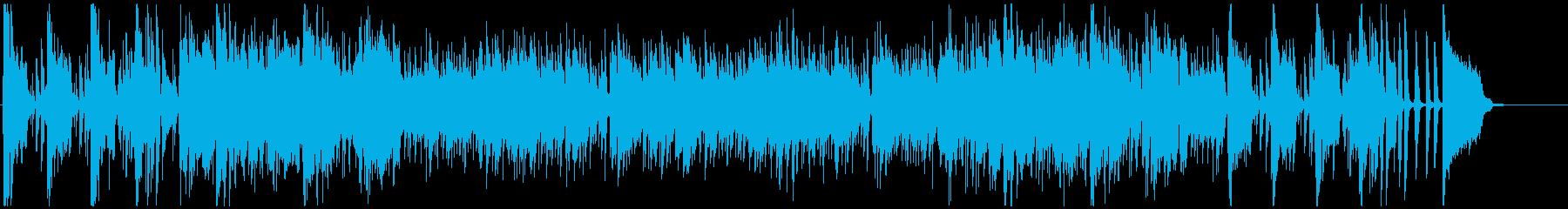 陽気なサックスとトランペットのジャズの再生済みの波形