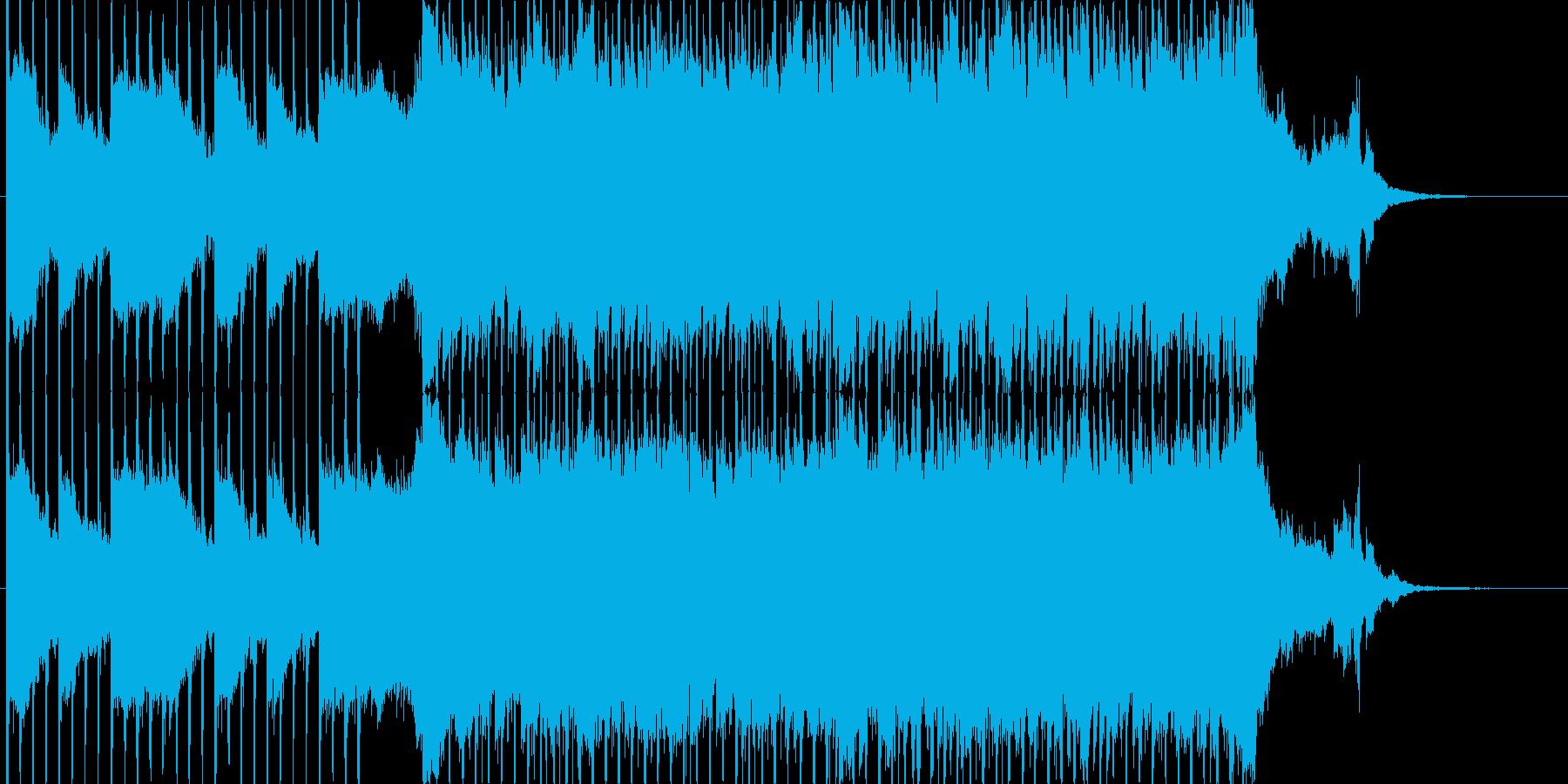 企業VP向け、爽やかポップ4つ打ち16bの再生済みの波形