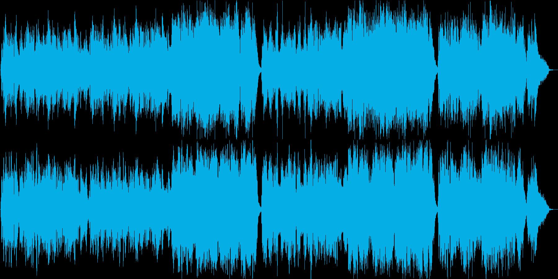 生演奏チェロ二重奏とピアノの再生済みの波形