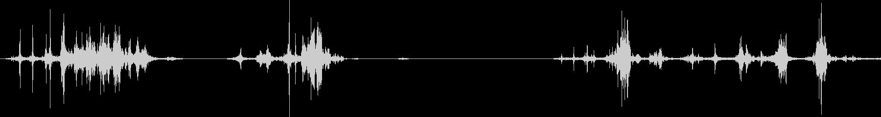 本のページをめくる音(パラパラ)の未再生の波形