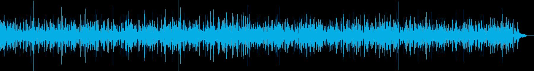爽やかなアコギ中心のおしゃれカフェBGMの再生済みの波形