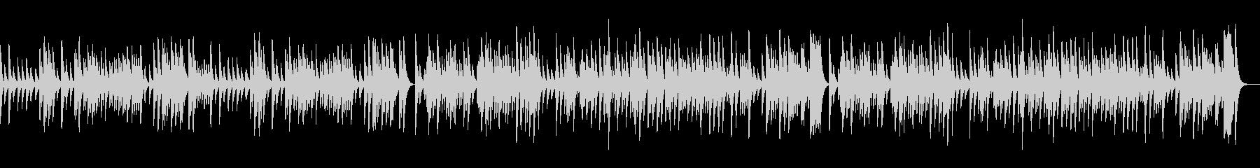 G線上のアリア/暖かい音色のオルゴールの未再生の波形
