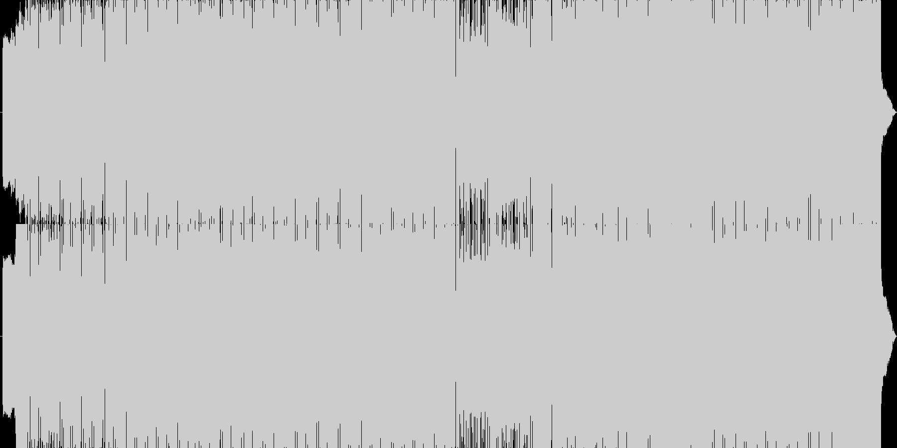 サイバーなハードEDMの未再生の波形