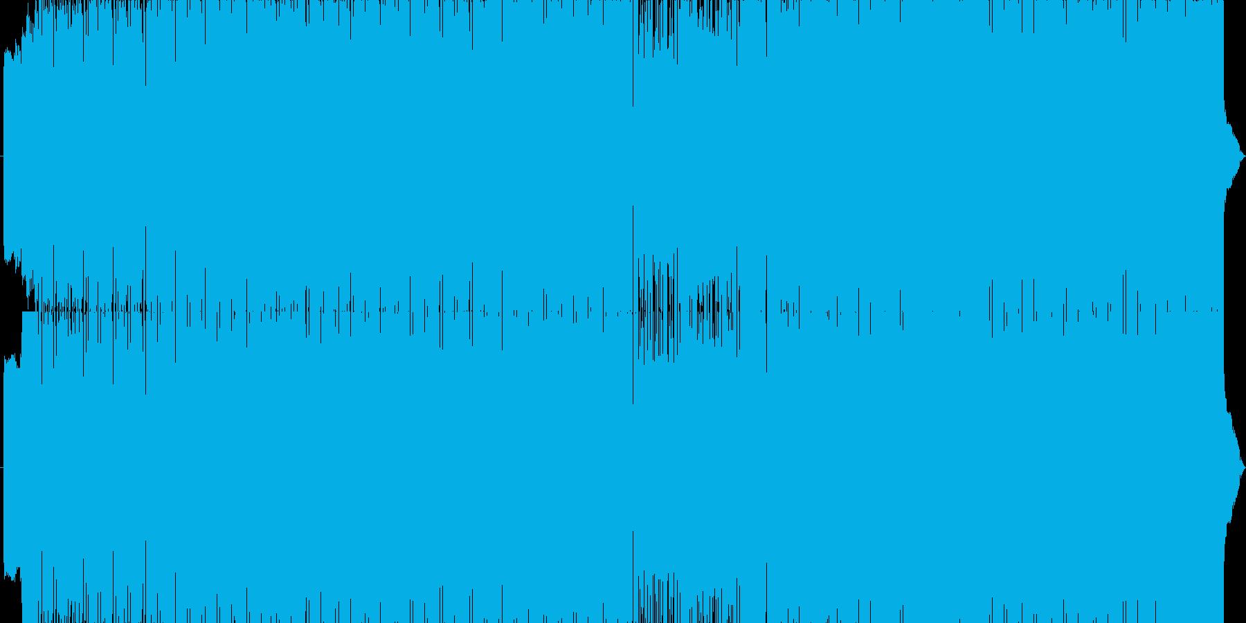 サイバーなハードEDMの再生済みの波形