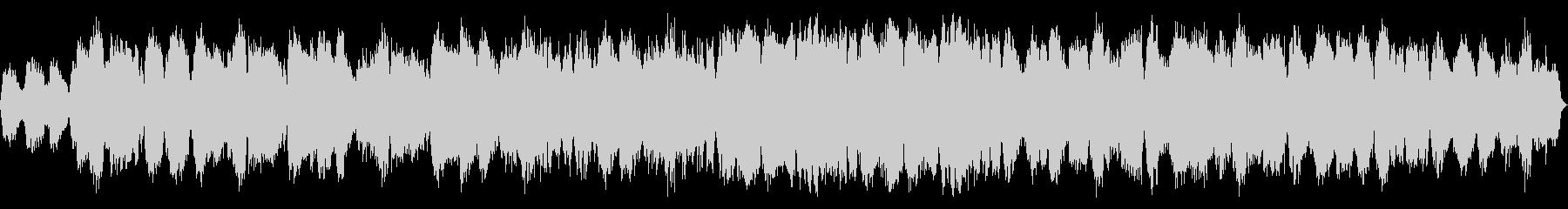 笛とシンセサイザーの静かで神秘的なBGMの未再生の波形