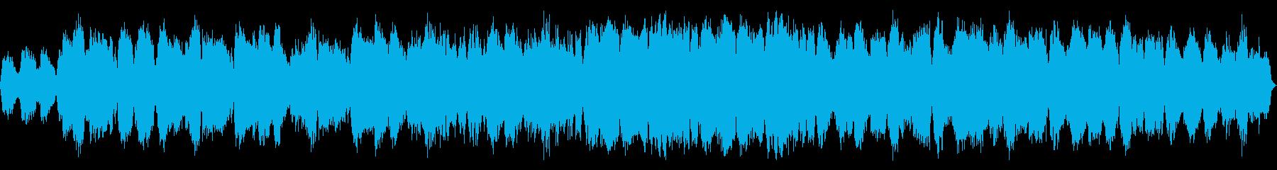 笛とシンセサイザーの静かで神秘的なBGMの再生済みの波形