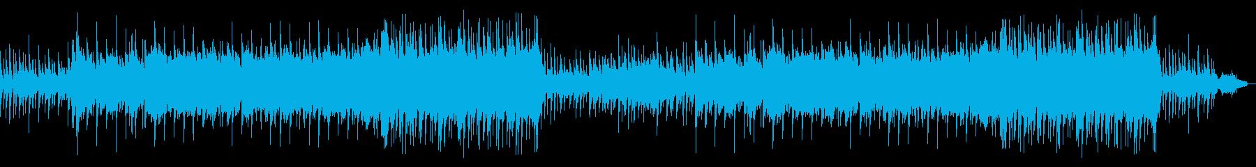 繊細で力強いピアノメインの曲の再生済みの波形