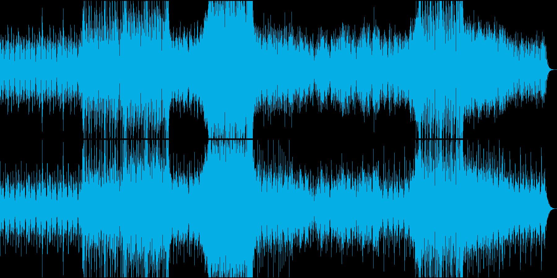 ゆったり3拍子のニューエイジミュージックの再生済みの波形