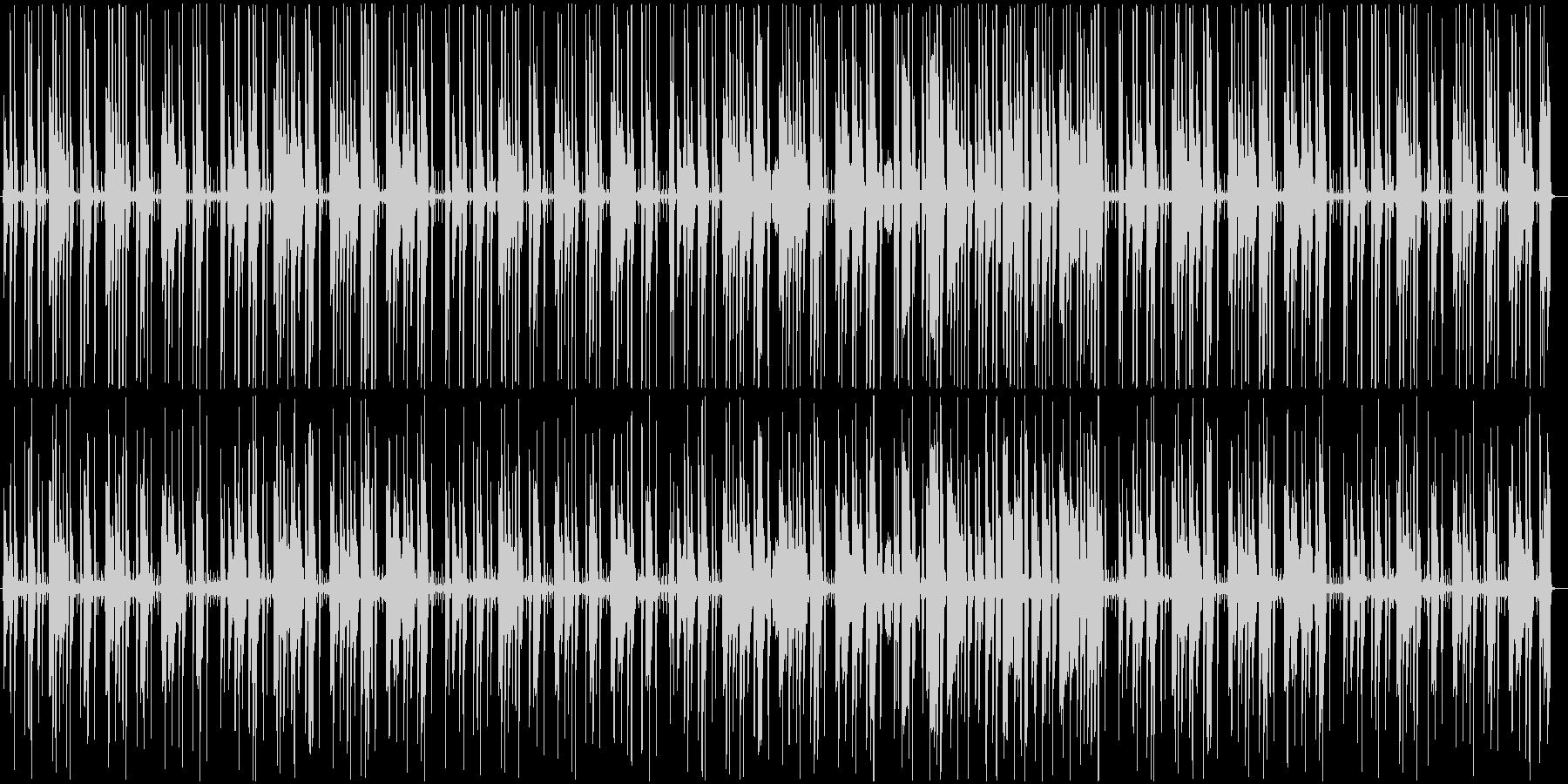 日常の会話シーンで流れる曲の未再生の波形