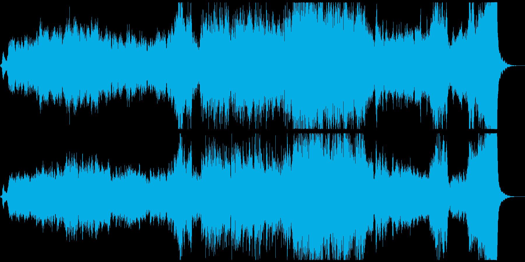 深海のような神秘的なオーケストラ楽曲の再生済みの波形