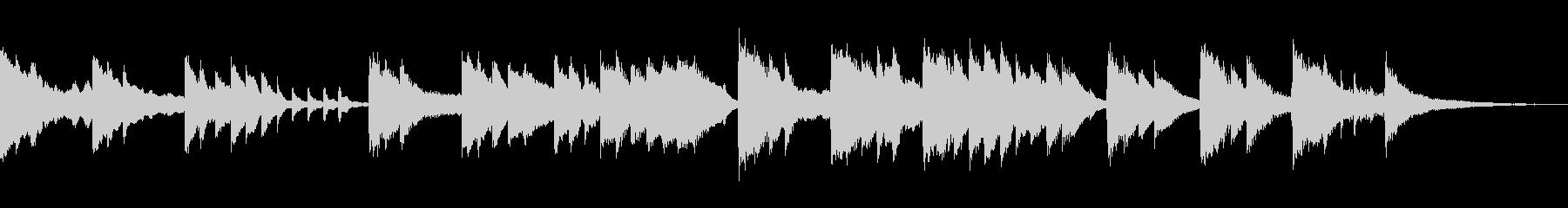 スロージャズ風ピアノバラードの未再生の波形