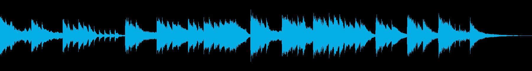 スロージャズ風ピアノバラードの再生済みの波形