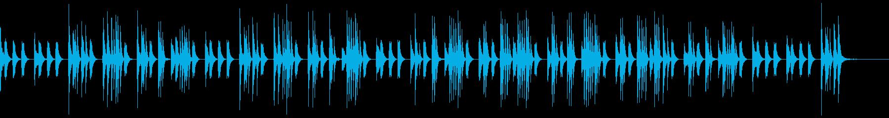 ほのぼの日常系、素朴な音色、ショートの再生済みの波形