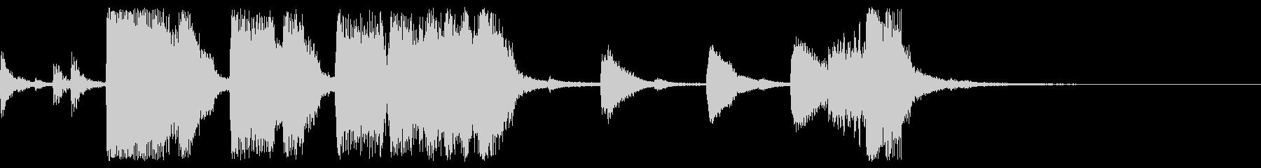ビッグバンドの豪華な勝利のファンファーレの未再生の波形
