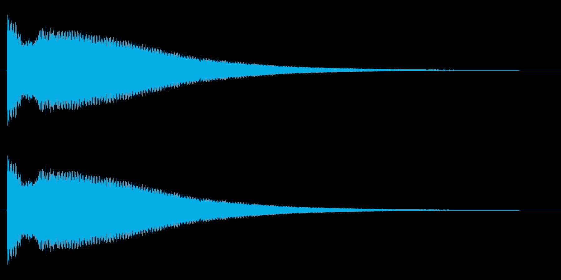 チ〜ン(高音の良く響くチャイム音)の再生済みの波形