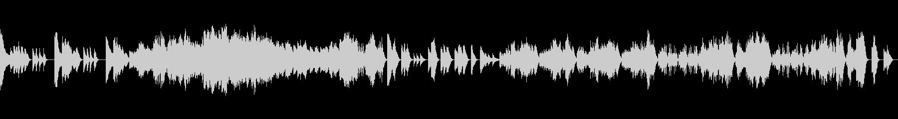 力強く厳格なクラシックピアノの未再生の波形