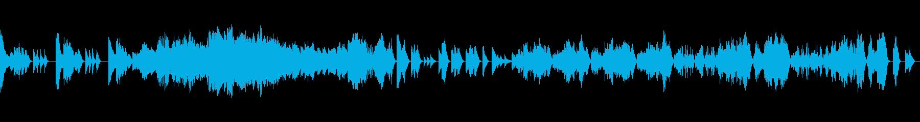 力強く厳格なクラシックピアノの再生済みの波形
