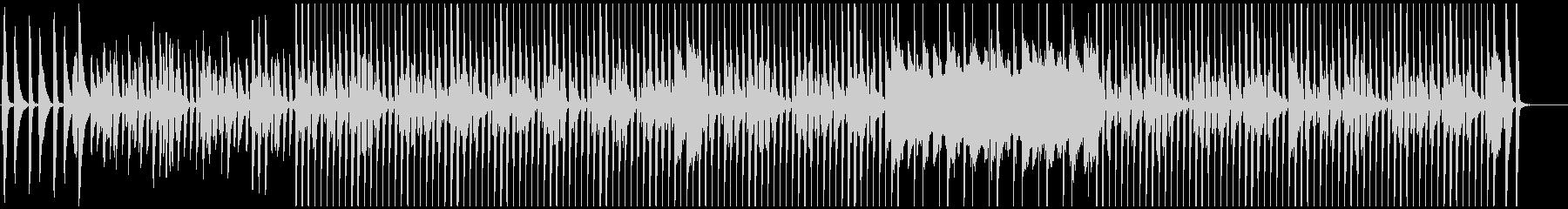 軽快なピアノの日常的BGMの未再生の波形