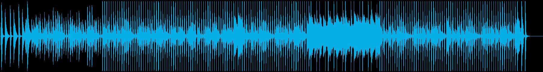 軽快なピアノの日常的BGMの再生済みの波形