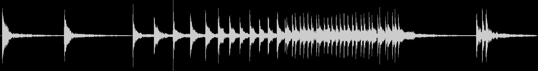 鼓の連打音の未再生の波形