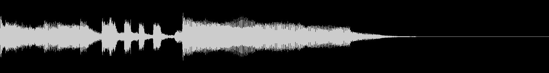 情報番組のオープニングをイメージした曲の未再生の波形