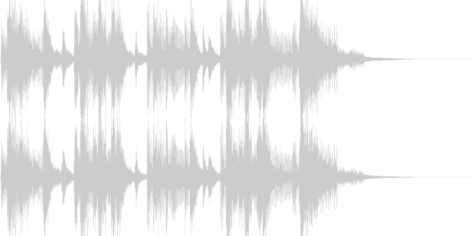 お笑い ファンキーな三味線ジングルの未再生の波形