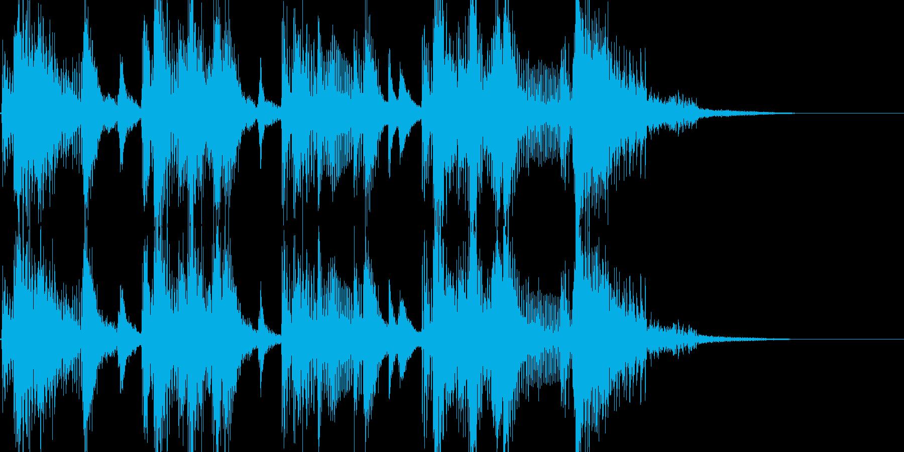 お笑い ファンキーな三味線ジングルの再生済みの波形