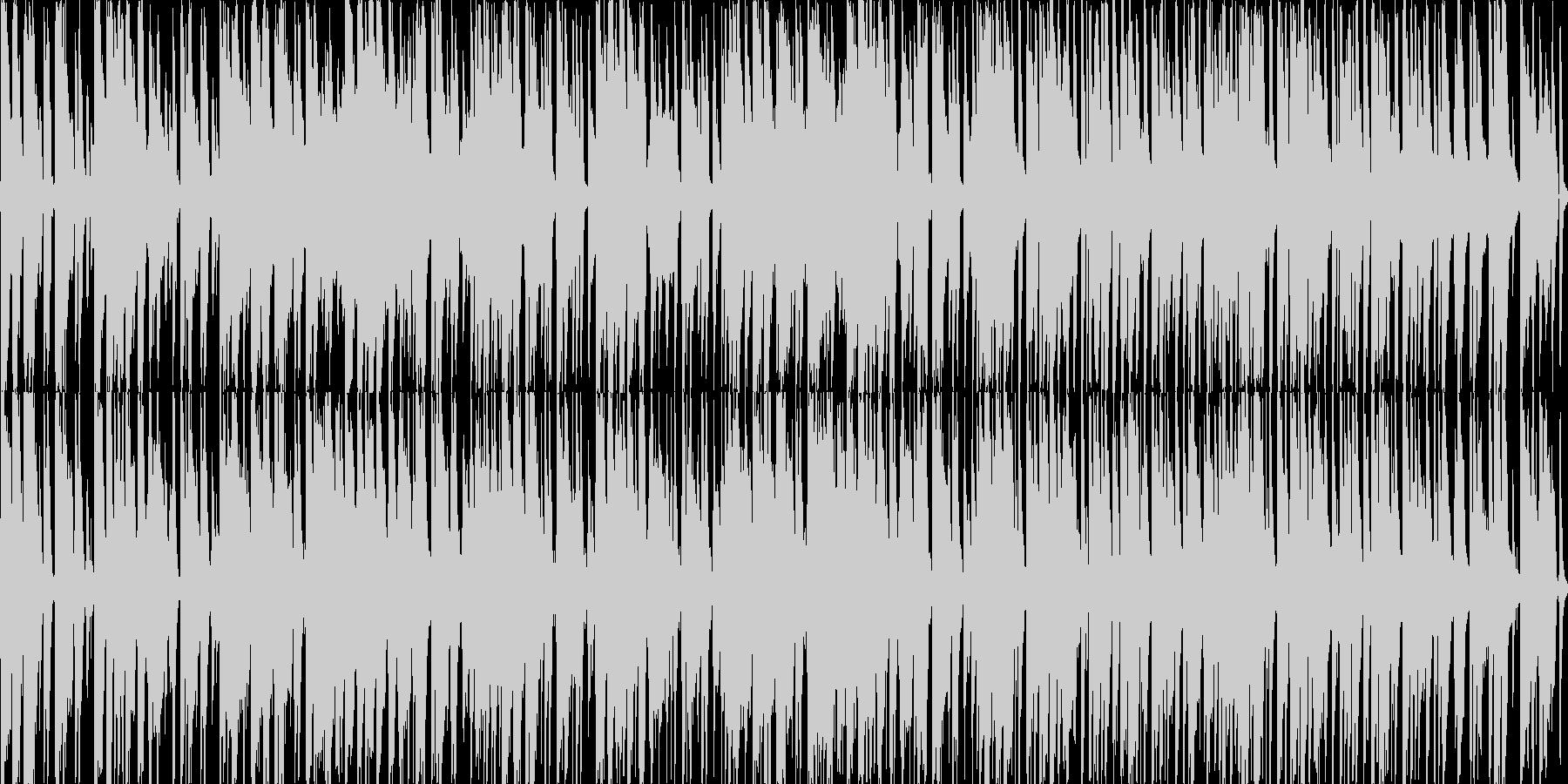 猫系のほのぼのした明るく軽快なループ曲の未再生の波形