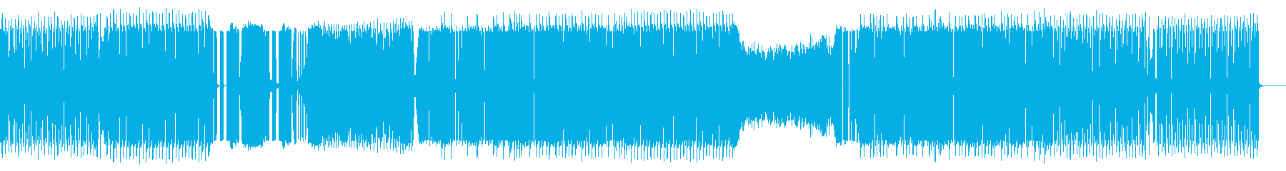 コミカルでグルーヴィーな四つ打ちの再生済みの波形