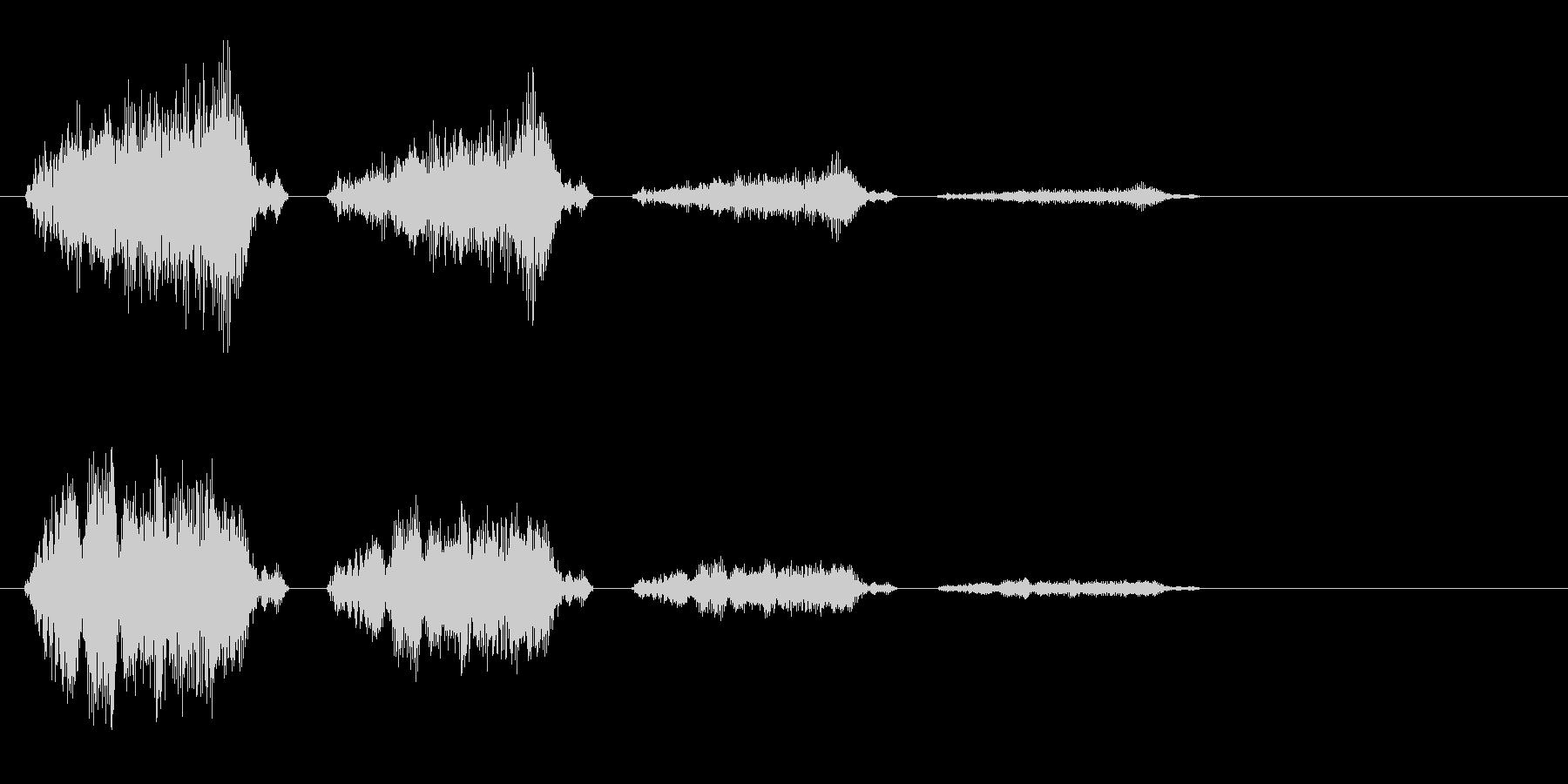 チュチェチェ(鳴き声)の未再生の波形